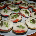 Tranches d'aubergines en toasts