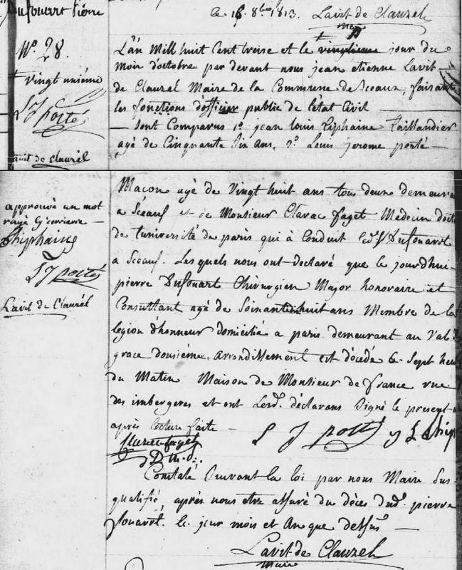 décès Sceaux 92 1813