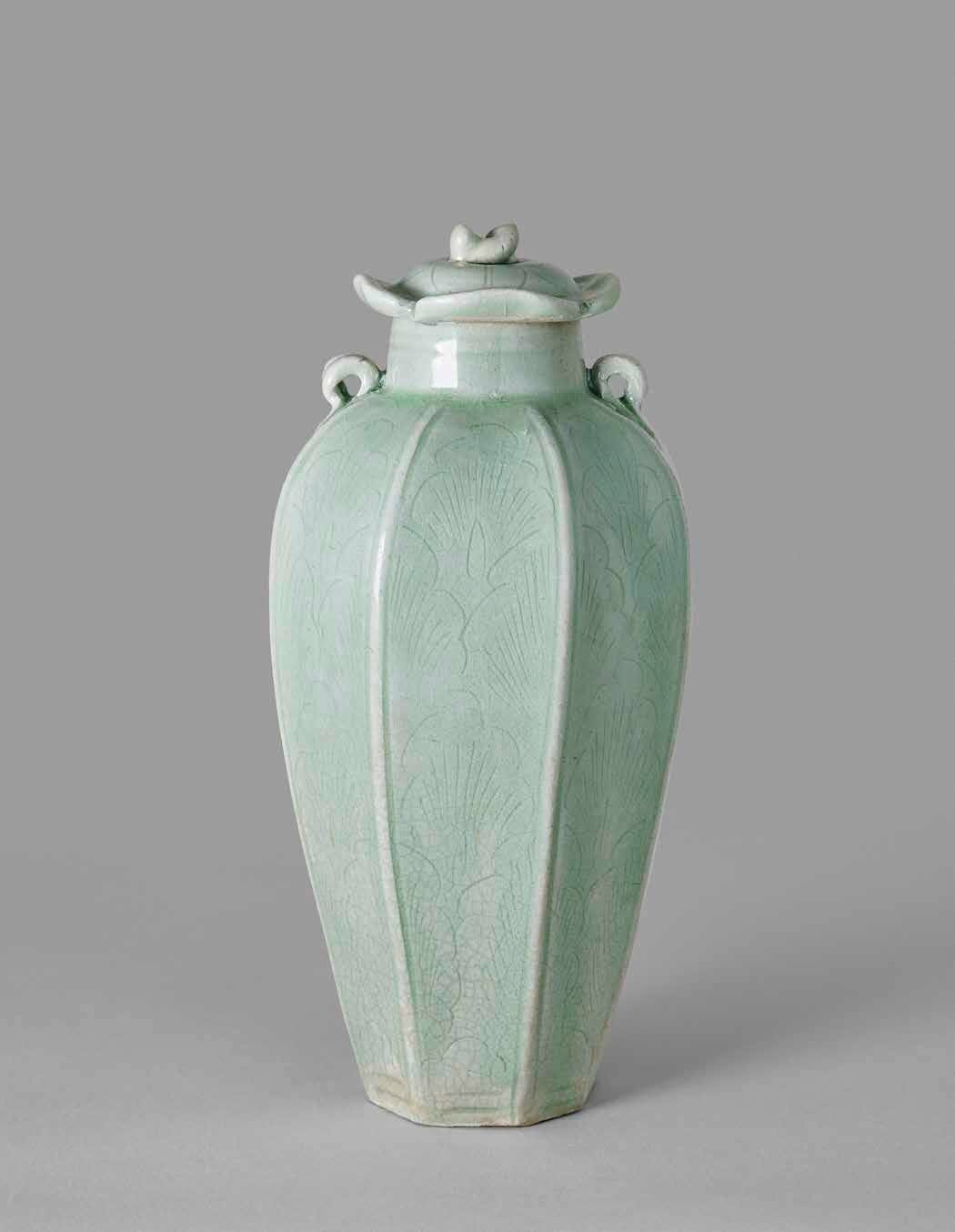 Early Longquan Yue-Type Octagonal Jar and Cover, Northern Song Dynasty 960-1127 A