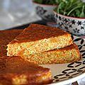 Gâteau de pommes de terre et carottes pour repas végé