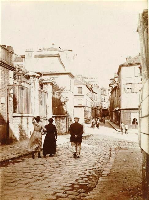 Rue Norvins à Montmartre 1910-1914