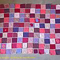 Pink square blanket #19