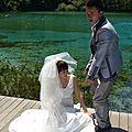 Les fameuses photos de mariage à juzhaigou