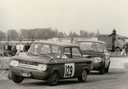 1968 - Circuit de Dijon (Base Aérienne de Longvic) (NSU TTS N° 129 JP Chenevier & 128 J
