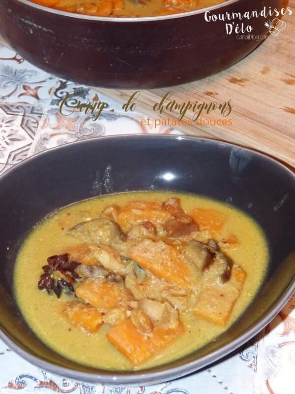 Curry de champignons & patates douces