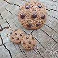 grosse bague cookie + mini puces d'oreilles cookies