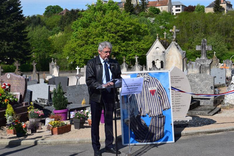Inauguration de la stèles des morts en déportation de Bourbon-Lancy 6
