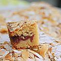 Gâteau moelleux amandes et framboises