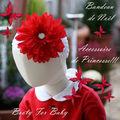 6/ Bandeaux fleuris pour Noël...