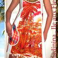 «Madinina ile aux fleurs» collector n°1105106021 Robe d'été taille36/38/ 40 120euros