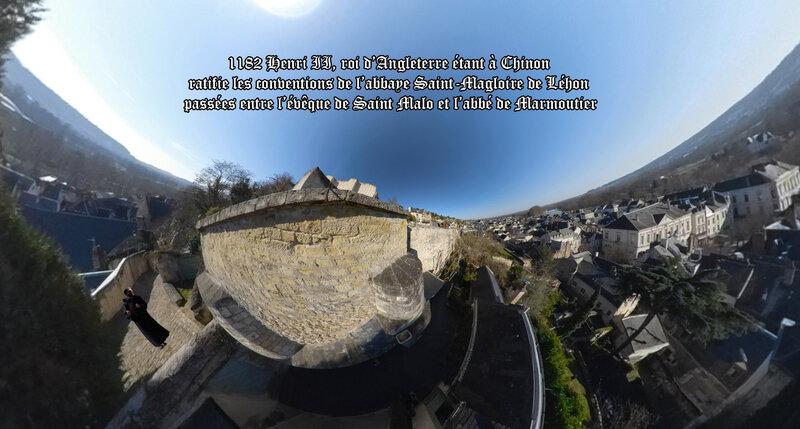 1182 Henri II, roi d'Angleterre étant à Chinon ratifie les conventions de l'abbaye Saint-Magloire de Léhon passées entre l'évêque de Saint Malo et l'abbé de Marmoutier