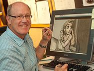 Glen Keane durant la production de Raiponce (2010)