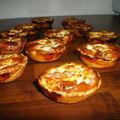 Mini tartelettes au jambon et féta