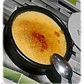 Crème brûlée à la vanille et zestes de citron vert -christophe felder