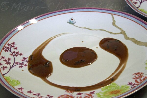 dressage des assiettes : la sauce