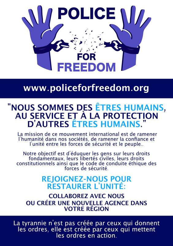Police for freedom Union des polices du monde contre la tyrannie sanitaire