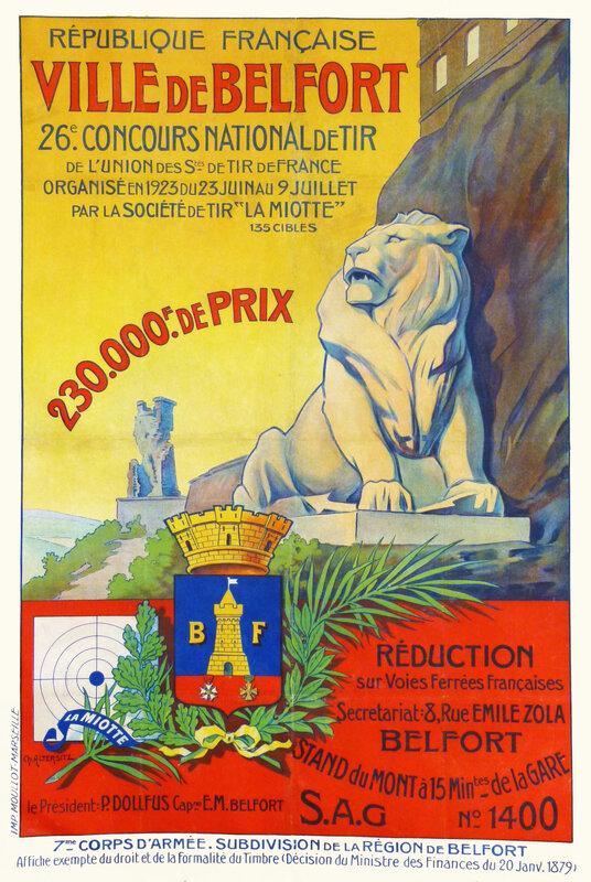 AffIche 26e Concours National Tir 1923