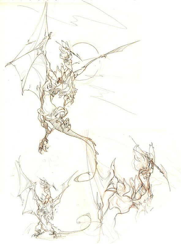croquis_dragons