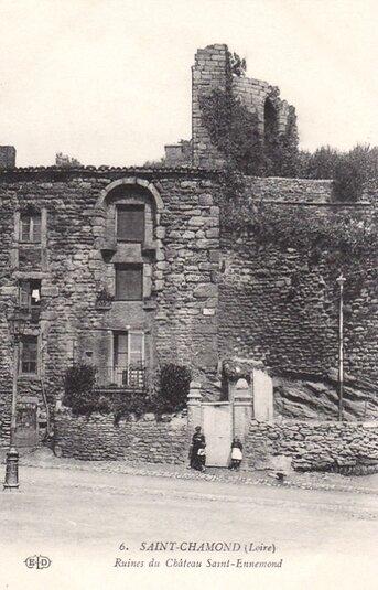 ruines château Saint-Ennemond écrite 29 juin 1915