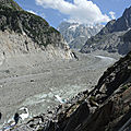 Chamonix, la Mer de Glace, à niveau (74)