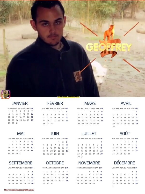 GEOFFREY 1 CALENDRiER 2018