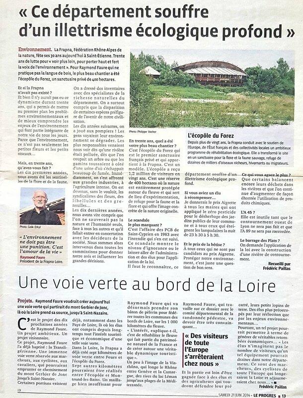 saint etienne stéphanois environnement loire frapna biodiversité conseil general