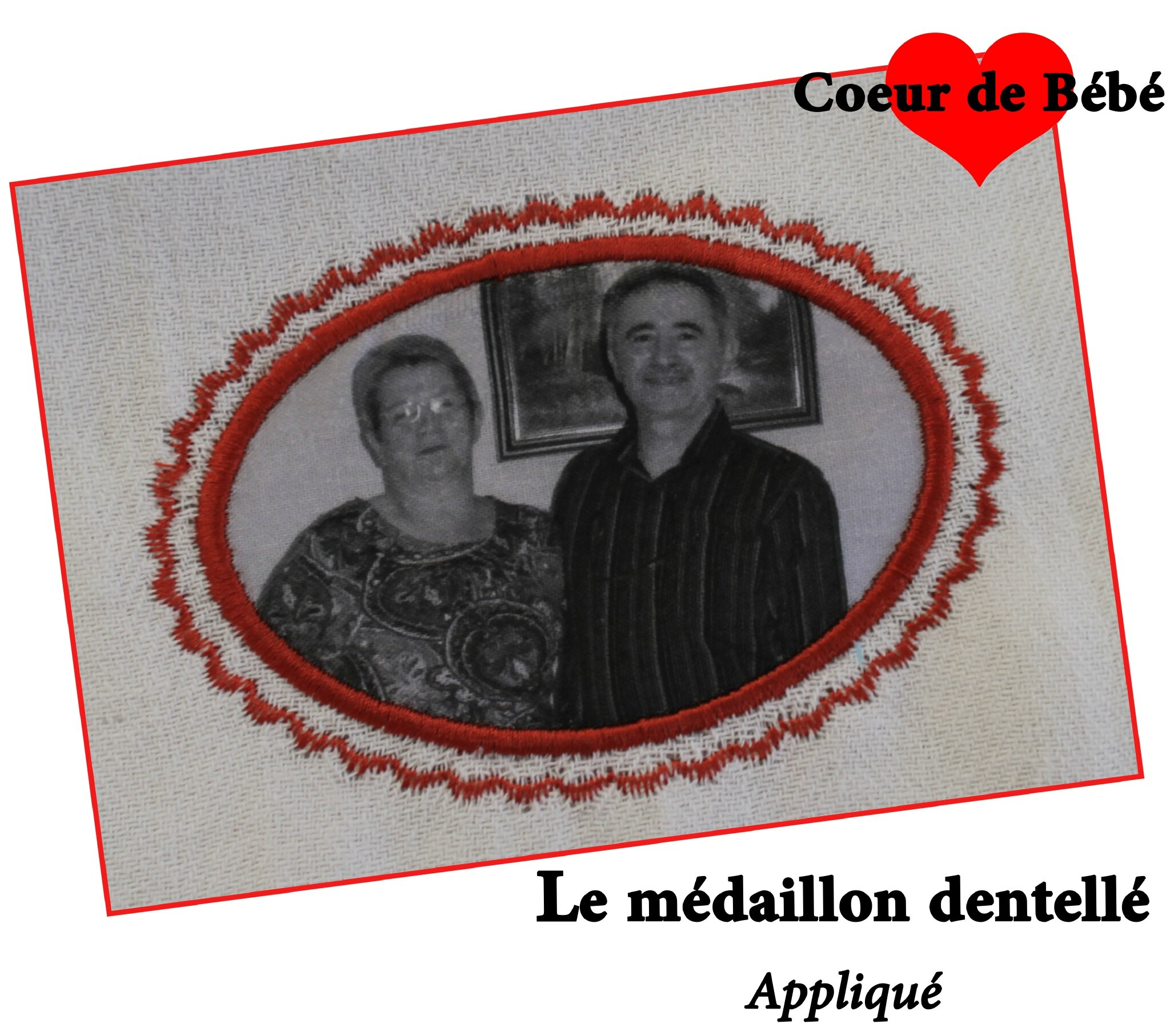 medaillon dentellé
