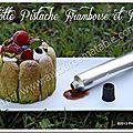 Charlotte pistache framboise et fraise