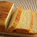 English muffin toasting bread (pain à toaster pour le petit dej)
