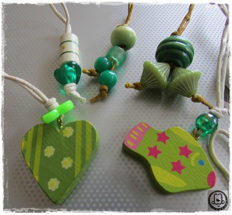 Lilou pour L - anneaux marqueurs verts