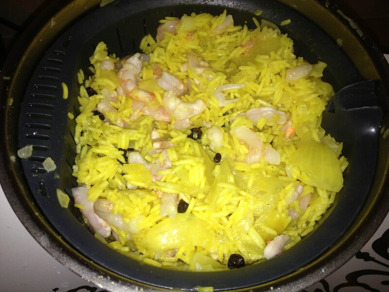 Riz au Curry et Crevettes (4)