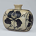 A small punch'ong bottle, joseon dynasty (15th - 16th century)