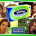 Kleenex partenaire de l'amour est dans le pré