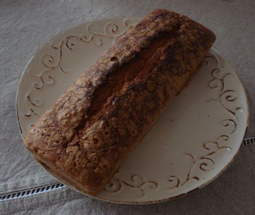 Cake aux fraises et au chocolat blanc