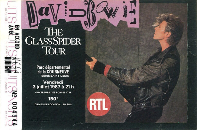1987 07 David Bowie La Courneuve Billet