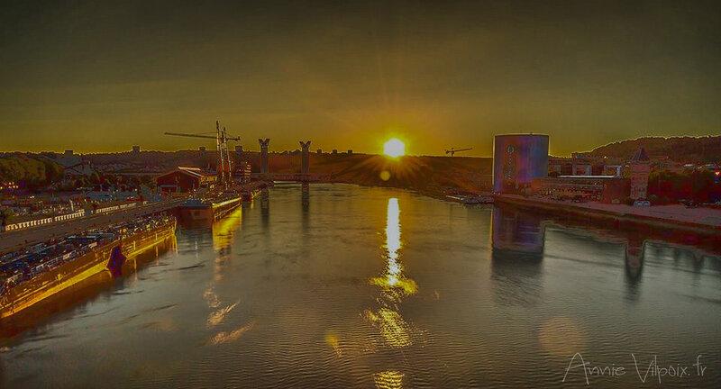 coucher de soleil sur Rouen_01