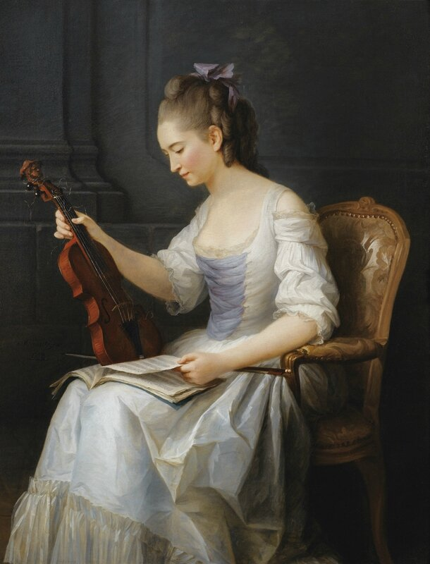 Anne Vallayer-Coster, Portrait of a violinist, 1773