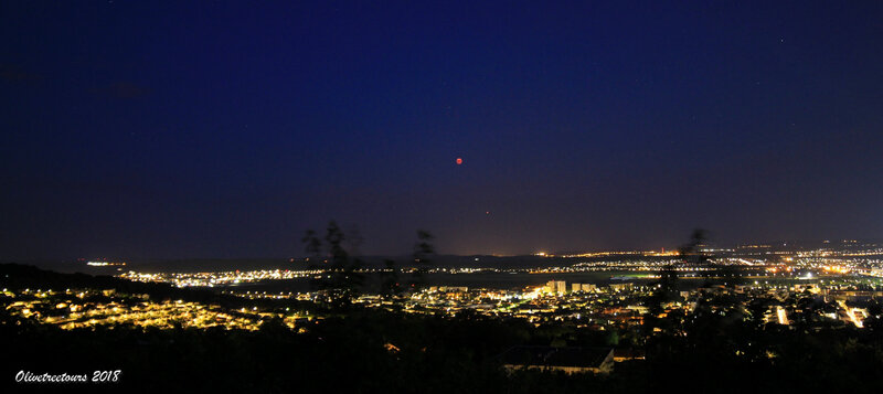 Lune et Mars sur Essey-lès-Nancy / Moon and Mars over Essey les Nancy
