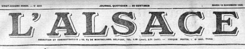 Monument du Poilu L'Alsace 13 nov 1928 1