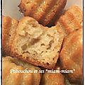 Façon cannelés à la noix de coco (avec 15mn de pause)