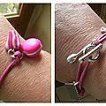Le bracelet Nantais (fushia) de Pâquerette