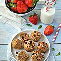 Muffins à la fraise #vegan #sansgluten