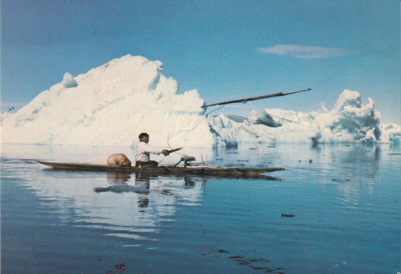 Esquimau harpon carte postale