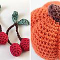 La marchande au crochet - tuto des glaces, bretzel, poire, pomme, cerises, etc !! #5