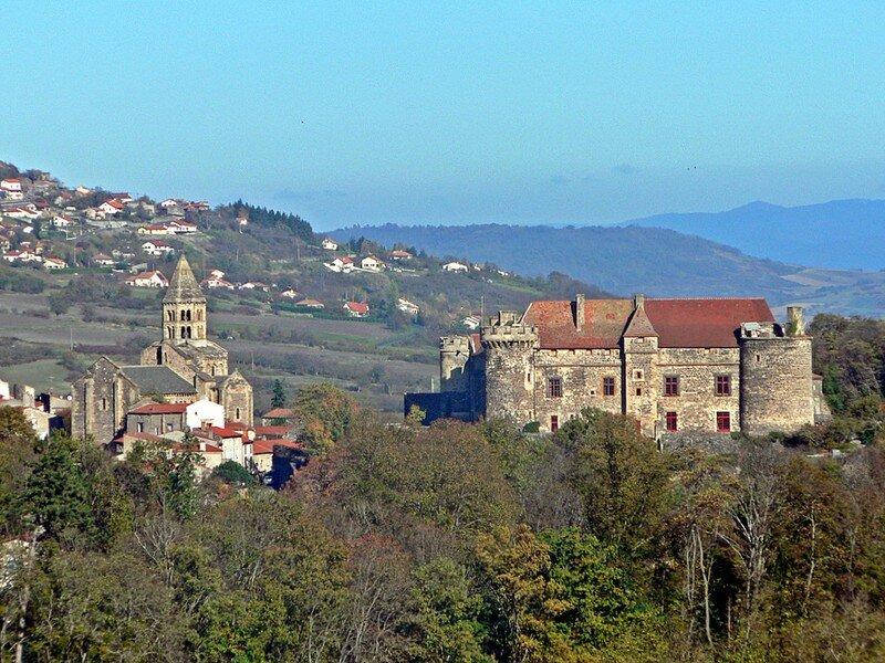 château et église de Saint-Saturnin