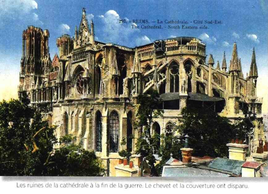 La cathédrale de Reims en 1918