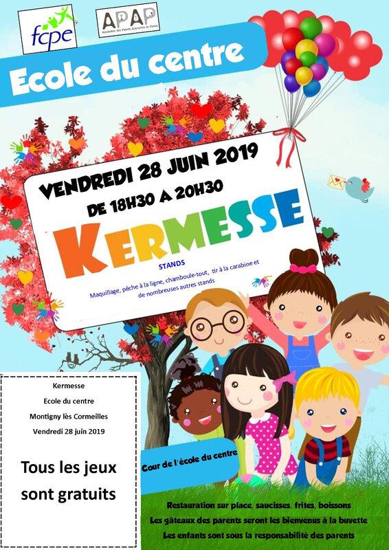 Flyer kermesse 28 juin 2019