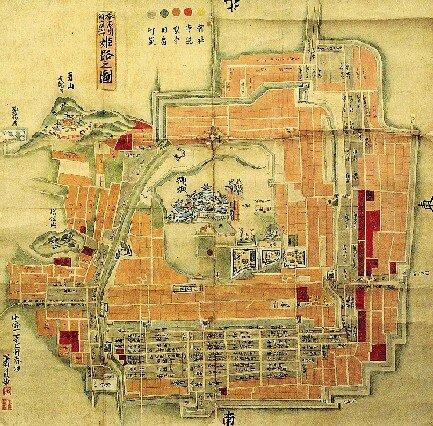 Oldmap-Himeji-castle