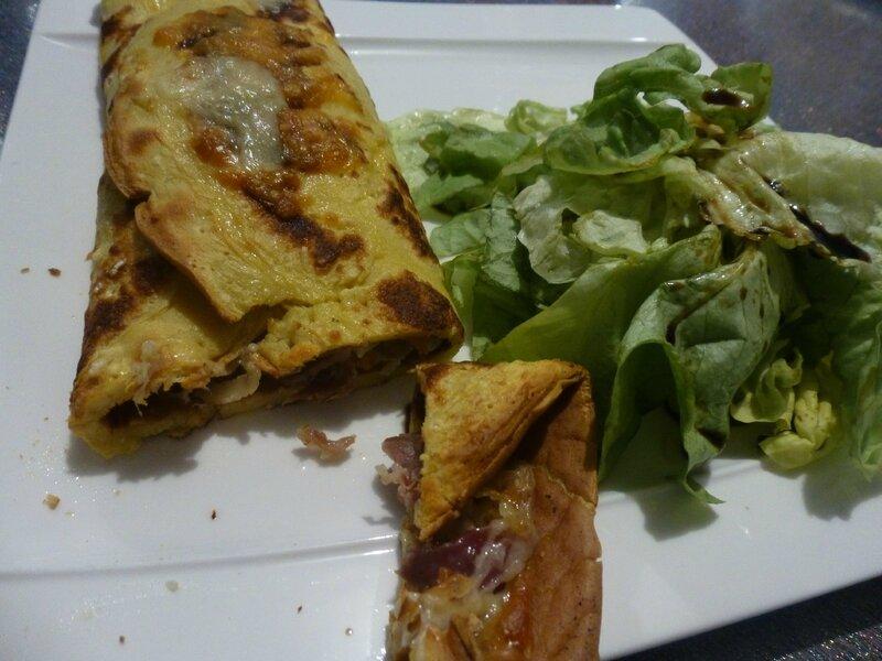 Crêpes à la béchamel, jambon, champignons et fromage (21)