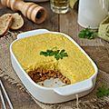 Parmentier de protéines de soja et purée de maïs #vegan